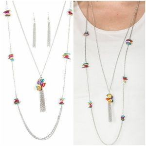 CLIFF CACHE MULTI-NECKLACE/EARRING SET